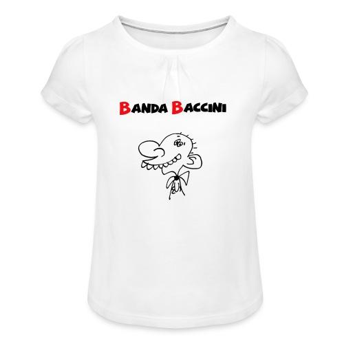 Banda Baccini. - Maglietta da ragazza con arricciatura