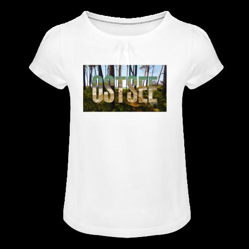 Ostsee - Mädchen-T-Shirt mit Raffungen