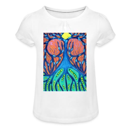Drapiężne Drzewo - Koszulka dziewczęca z marszczeniami