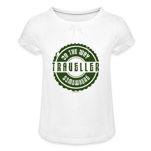 FP13 TR-02 ON THE WAY SOMEWHERE-TRAVELLER PRODUCTS - Tyttöjen t-paita, jossa rypytyksiä