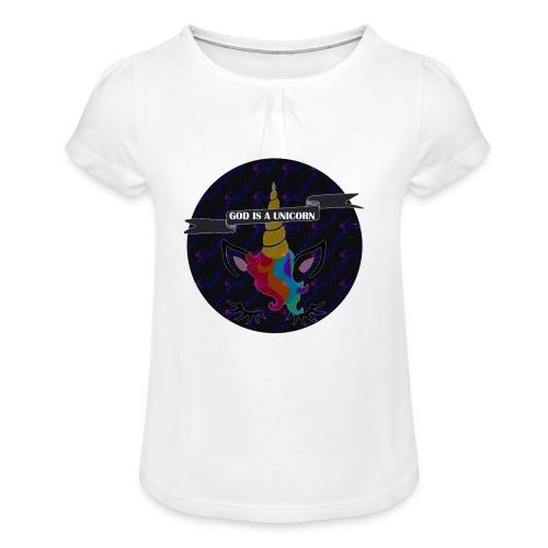 GOD A UNICORN - T-shirt à fronces au col Fille