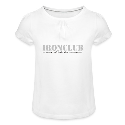 IRONCLUB - a way of life for everyone - Jente-T-skjorte med frynser