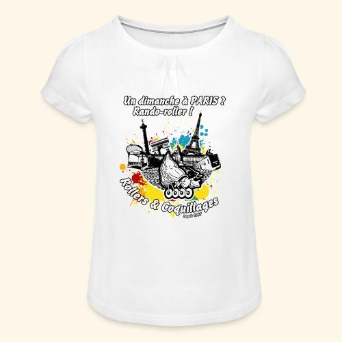 Splash - T-shirt à fronces au col Fille