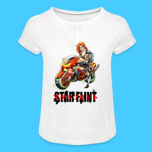 StarFlint Trixie - T-shirt à fronces au col Fille