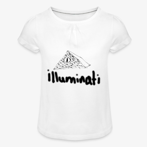 illuminati - Girl's T-Shirt with Ruffles