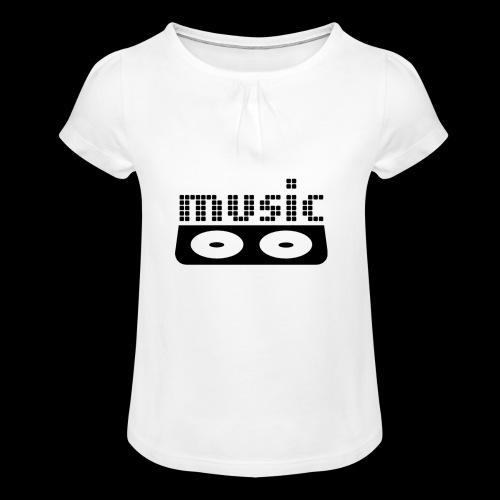 consola dj - Camiseta para niña con drapeado