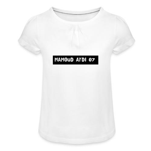 T-shirt - T-shirt med rynkning flicka