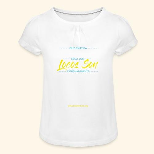 Extremadamente Felices - Camiseta para niña con drapeado