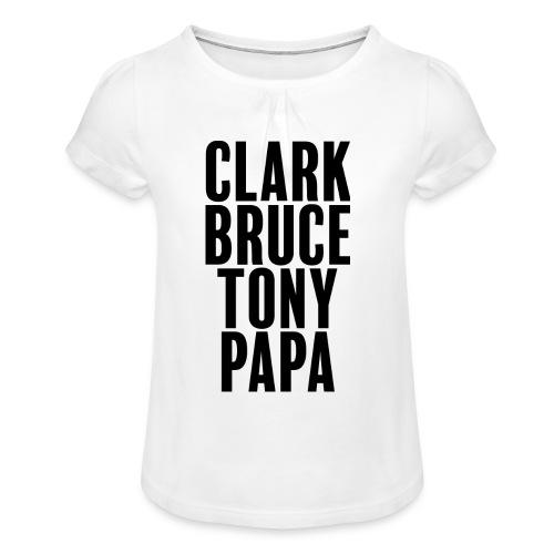 Mon père ce héro - T-shirt à fronces au col Fille