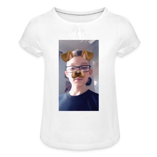 Hoddies - Girl's T-Shirt with Ruffles