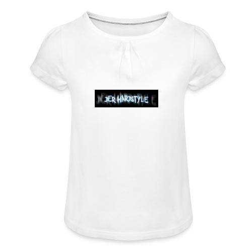 DerHardstyle.ch Kleines Logo - Mädchen-T-Shirt mit Raffungen