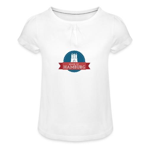 Made in Hamburg - Mädchen-T-Shirt mit Raffungen
