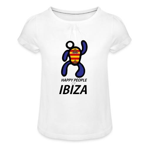 Happy People of Ibiza - Meisjes-T-shirt met plooien