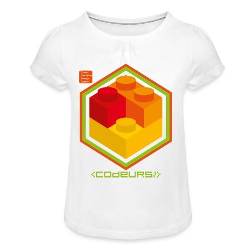 Esprit Brickodeurs - T-shirt à fronces au col Fille