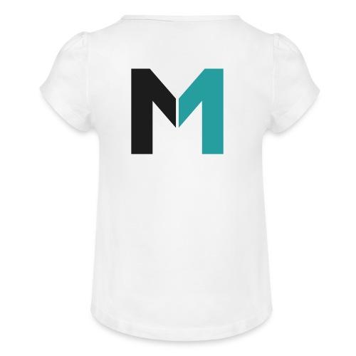 Logo M - Mädchen-T-Shirt mit Raffungen