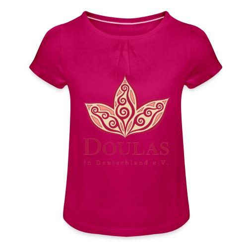 Doulas in Deutschland e.V. - Mädchen-T-Shirt mit Raffungen