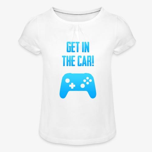 PUBG Get in the car Kids - Mädchen-T-Shirt mit Raffungen