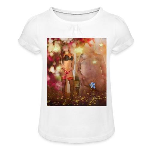 herbst Sinfonie - Mädchen-T-Shirt mit Raffungen