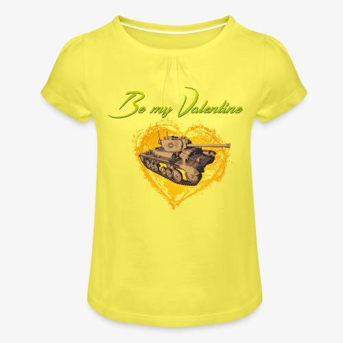 Glowing Valentine Heart - Mädchen-T-Shirt mit Raffungen