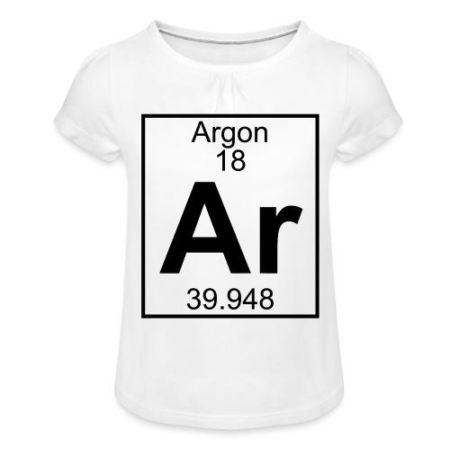 Argon (Ar) (element 18) - Girl's T-Shirt with Ruffles