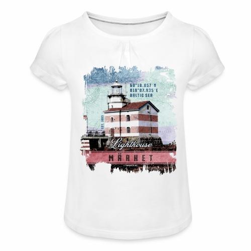 Märket majakkatuotteet, Finland Lighthouse, väri - Tyttöjen t-paita, jossa rypytyksiä