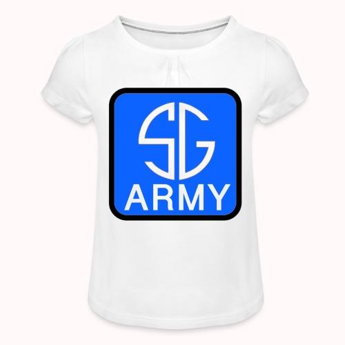 SemGamerArmy logo in box - Meisjes-T-shirt met plooien
