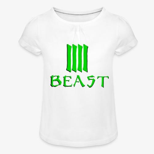 Beast Green - Girl's T-Shirt with Ruffles