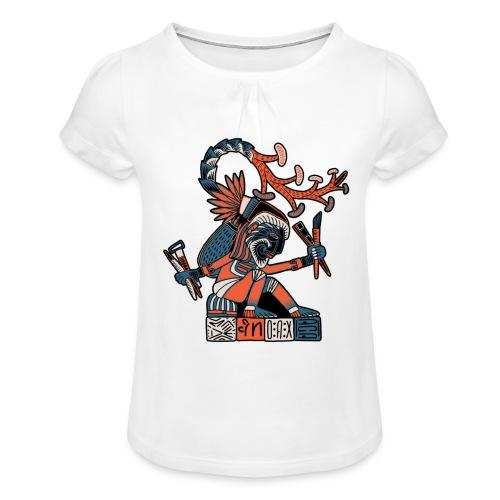 MAESTRO MEZCALERO PREHISPÁNICO - Camiseta para niña con drapeado