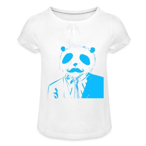 BluePanda Logo - Girl's T-Shirt with Ruffles