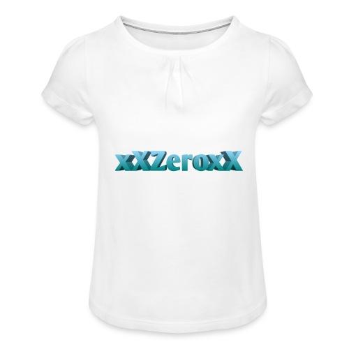 xXZeroxX Merch - Mädchen-T-Shirt mit Raffungen