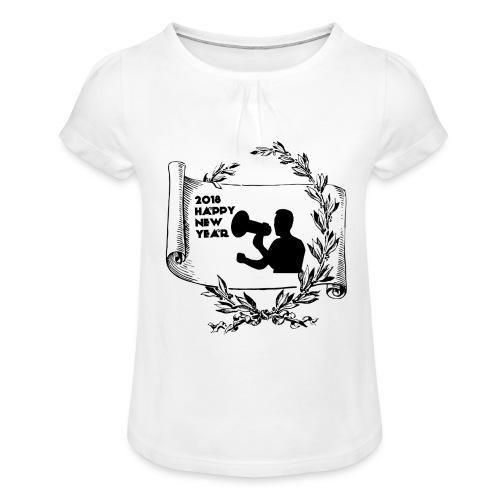 Happy New Year 2018 - T-shirt à fronces au col Fille