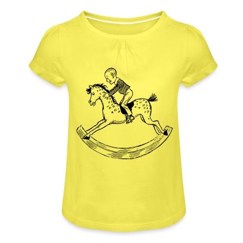 konik na biegunach - Koszulka dziewczęca z marszczeniami