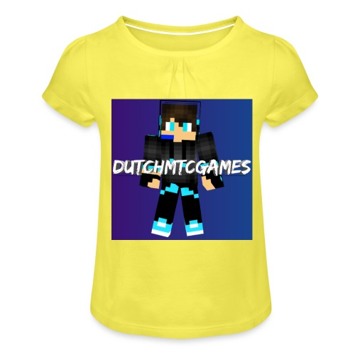 logo - Meisjes-T-shirt met plooien