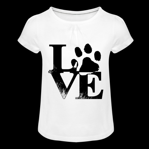 LOVE - T-shirt à fronces au col Fille
