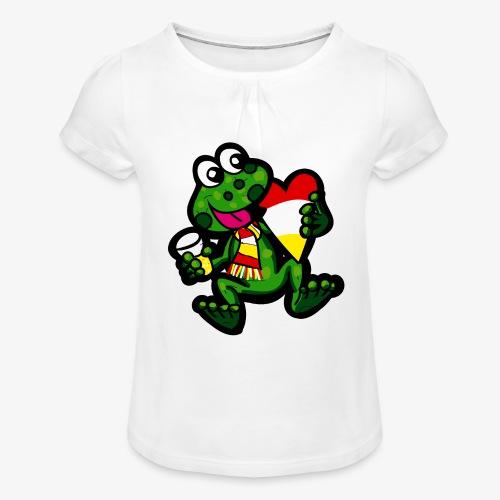 Oeteldonk Kikker - Meisjes-T-shirt met plooien