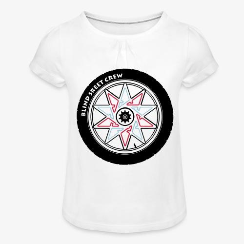 BSC Team - Maglietta da ragazza con arricciatura