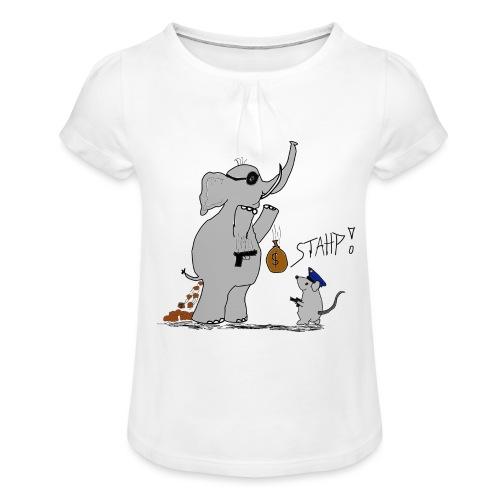 Bankraub Fail - Mädchen-T-Shirt mit Raffungen