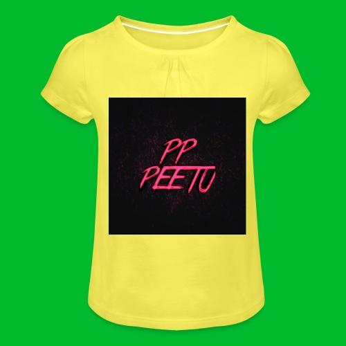 Ppppeetu logo - Tyttöjen t-paita, jossa rypytyksiä