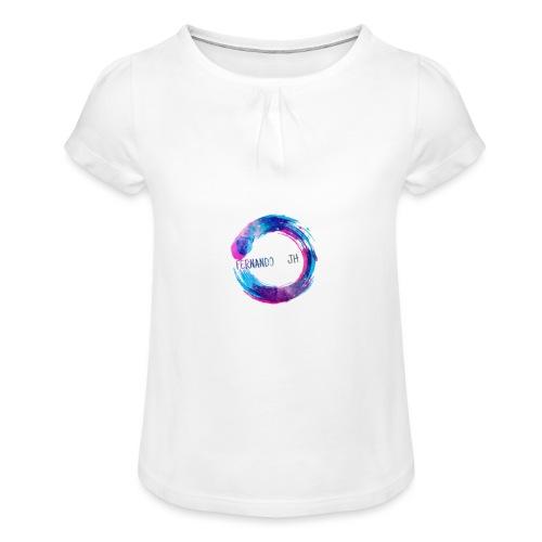 J h - Camiseta para niña con drapeado