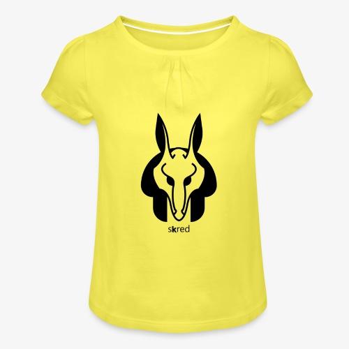 Anubi Soggetto1 - Maglietta da ragazza con arricciatura