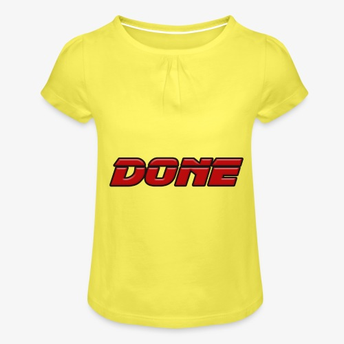 done - Girl's T-Shirt with Ruffles