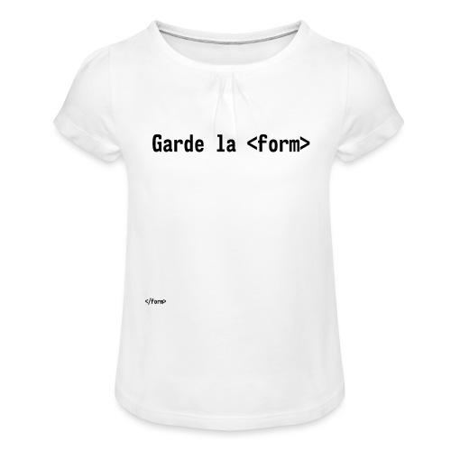 Design_dev_blague - T-shirt à fronces au col Fille