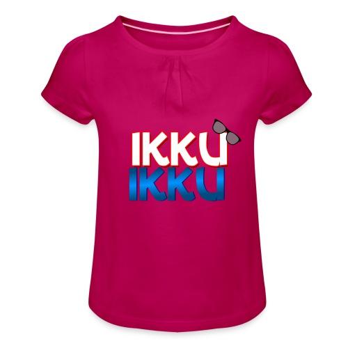 Ikku Ikku T-Shirt - Meisjes-T-shirt met plooien
