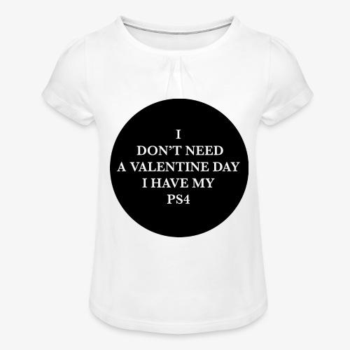 Valentine Day - Love videogame - Maglietta da ragazza con arricciatura