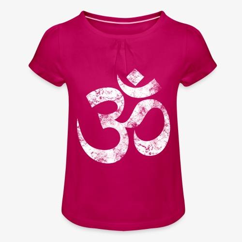 OM - Mädchen-T-Shirt mit Raffungen