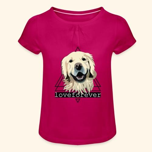 RETRIEVER LOVE FOREVER - Camiseta para niña con drapeado