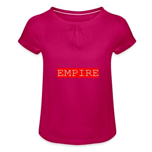 EMPIRE - Maglietta da ragazza con arricciatura