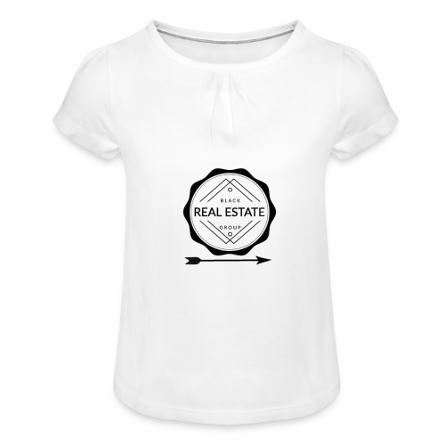 REAL ESTATE. - Camiseta para niña con drapeado