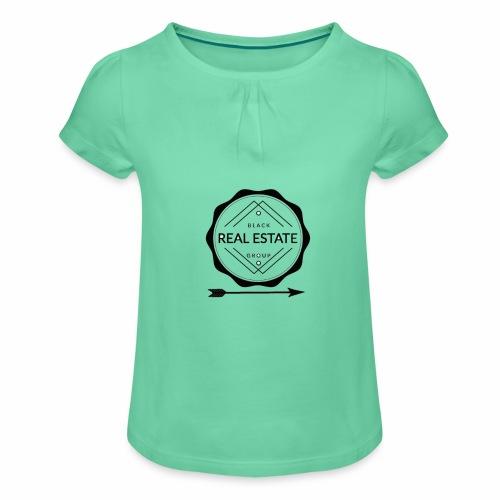 REAL ESTATE. - Camiseta para niña con drapeado
