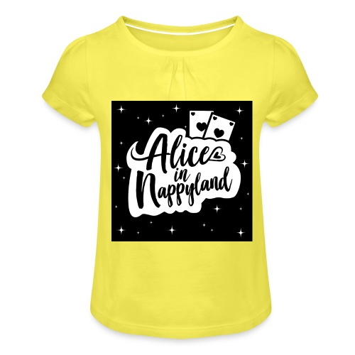 Alice in Nappyland 1 - Girl's T-Shirt with Ruffles